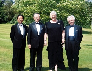 Hazel with representatives of NHK Japan at Glyndebourne